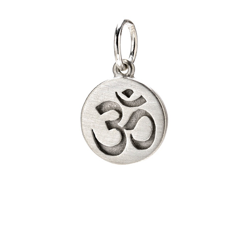 om charm, sterling silver