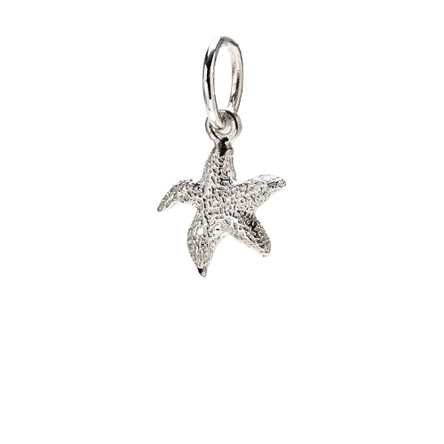 starfish charm, sterling silver