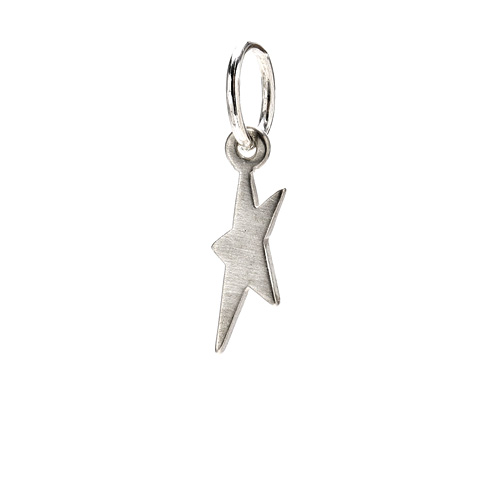 dancing star charm, sterling silver