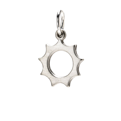 sunny charm, sterling silver