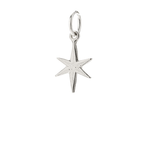 bright star charm, sterling silver