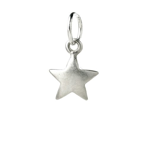 full star charm, sterling silver