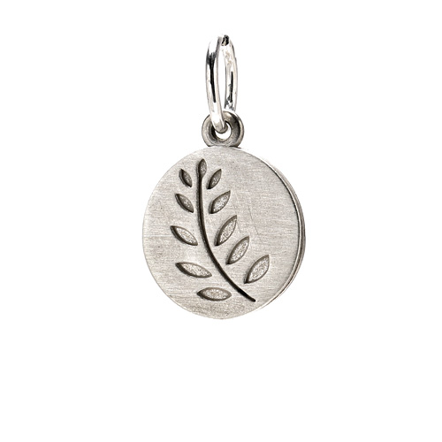 wheat charm, sterling silver