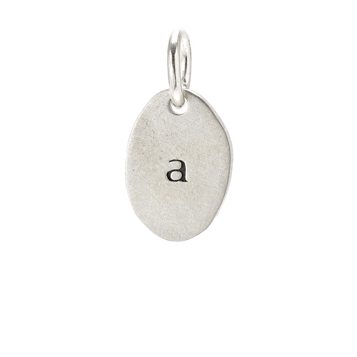 &quot;A&quot; charm, sterling silver