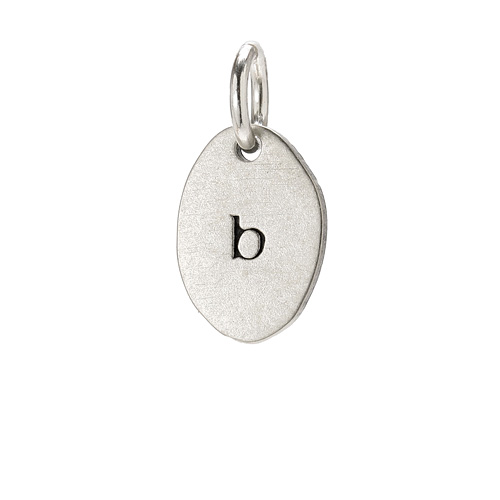 &quot;B&quot; charm, sterling silver