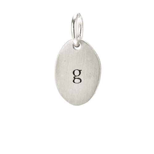 &quot;G&quot; charm, sterling silver