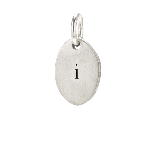 &quot;I&quot; charm, sterling silver