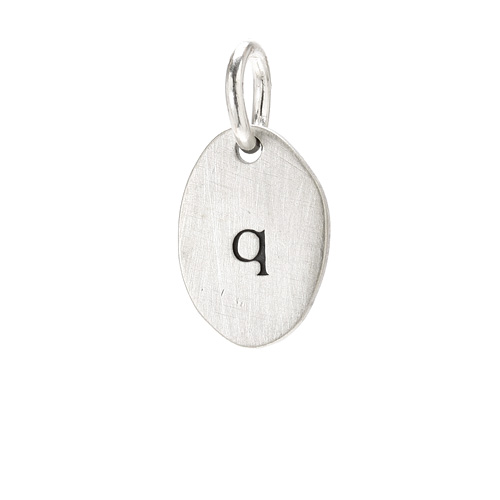 &quot;Q&quot; charm, sterling silver