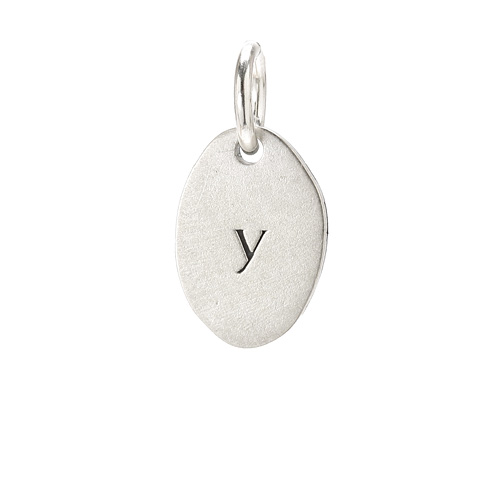 &quot;Y&quot; charm, sterling silver
