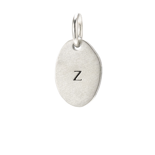 &quot;Z&quot; charm, sterling silver