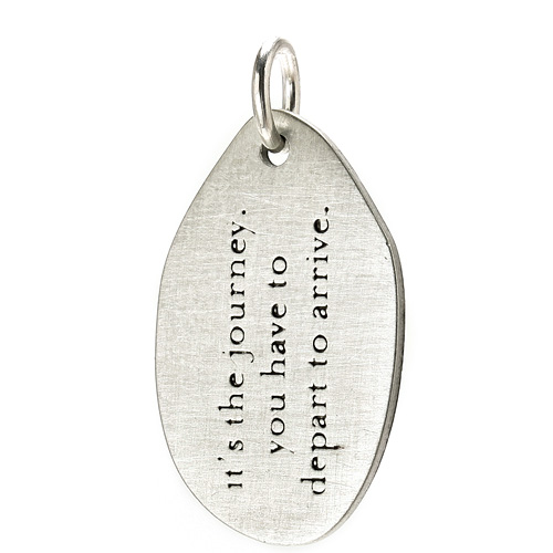 &quot;it's the journey&quot; charm, sterling silver