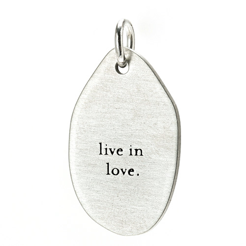 &quot;live in love&quot; charm, sterling silver