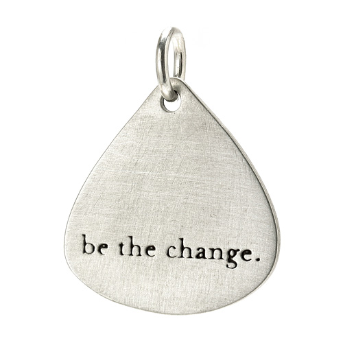 """be the change"" charm, sterling silver"