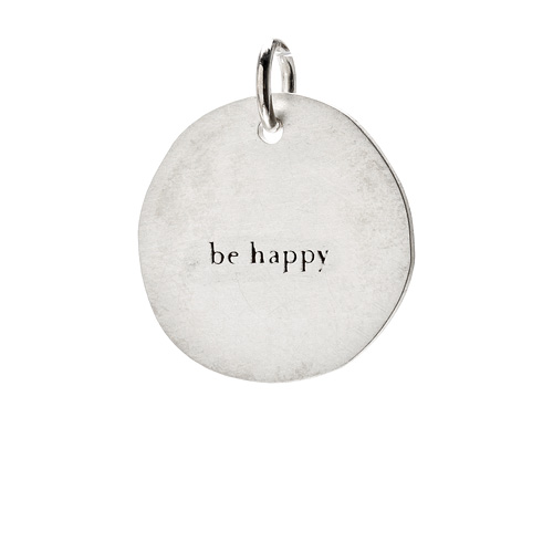 """be happy"" charm, sterling silver"