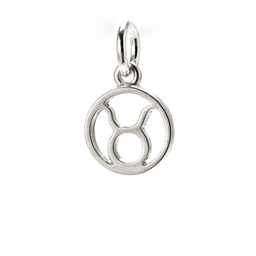 zodiac &quot;taurus&quot; charm, sterling silver