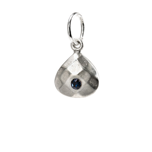 september birthstone charm, sterling silver