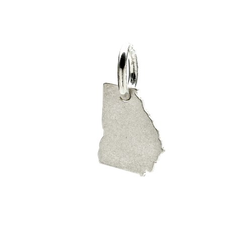 georgia charm, sterling silver