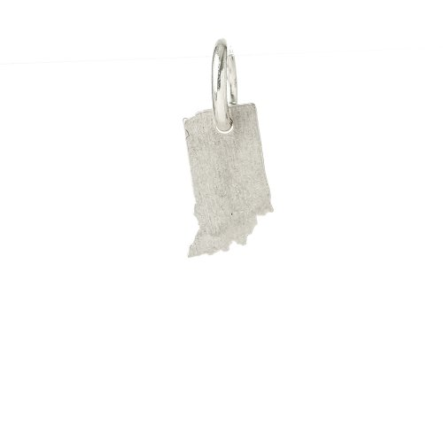 indiana charm, sterling silver