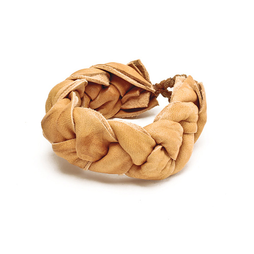 limited edition jewel box braided camel leather bracelet