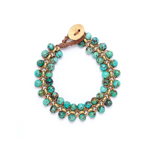 limited edition jewel box medium parallel african turquoise gemstone bracelet