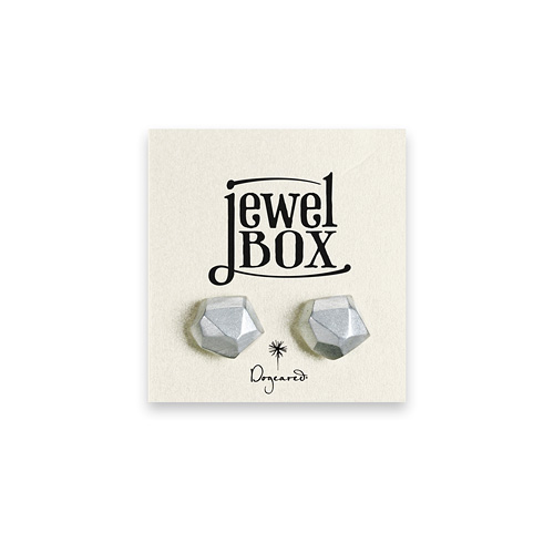 jewel box sterling silver nugget stud earrings