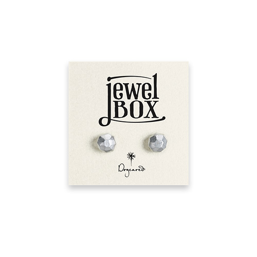 jewel box sterling silver faceted stud earrings