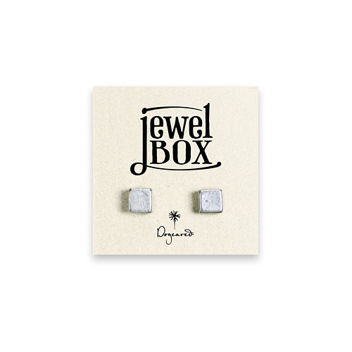 jewel box sterling silver square stud earrings