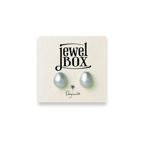 jewel box sterling silver pebble stud earrings