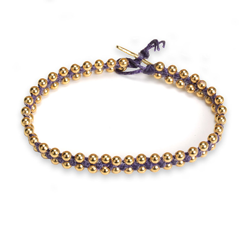 eat pray love I deserve something beautiful plum macrame bracelet
