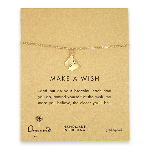 make a wish monarch butterfly gold dipped reminder bracelet