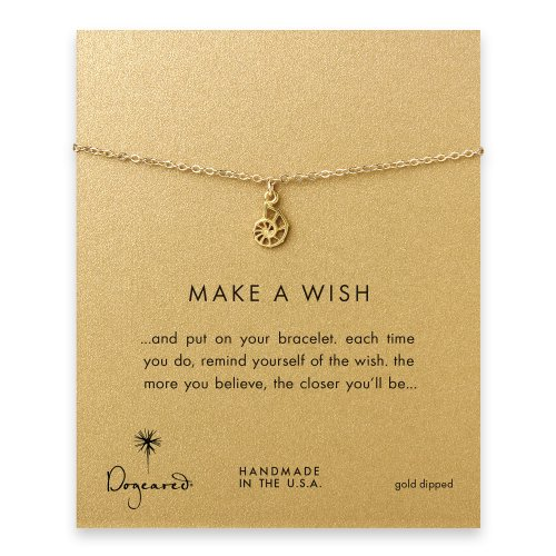 make a wish nautilus shell bracelet, gold dipped