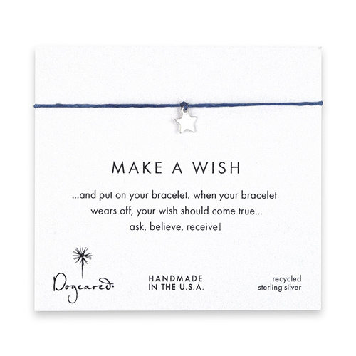 make a wish star bracelet on ocean, sterling silver