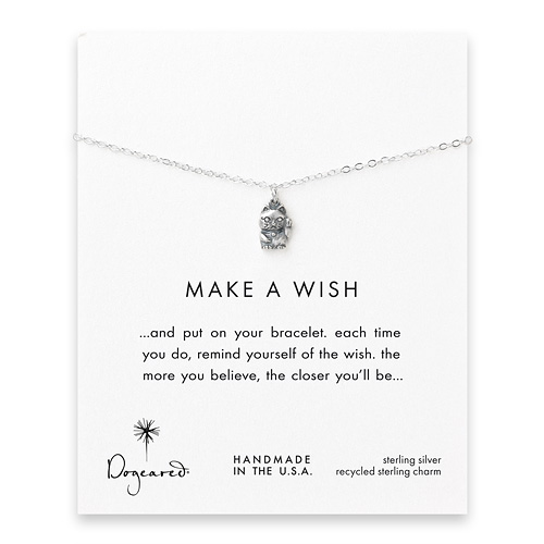 make a wish lucky cat sterling silver reminder bracelet
