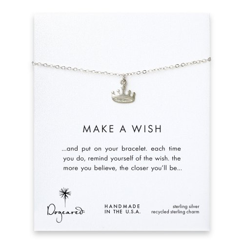 make a wish crown bracelet, sterling silver