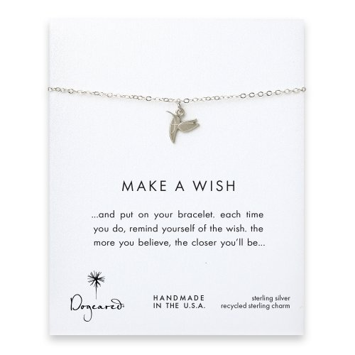 make a wish hummingbird bracelet, sterling silver