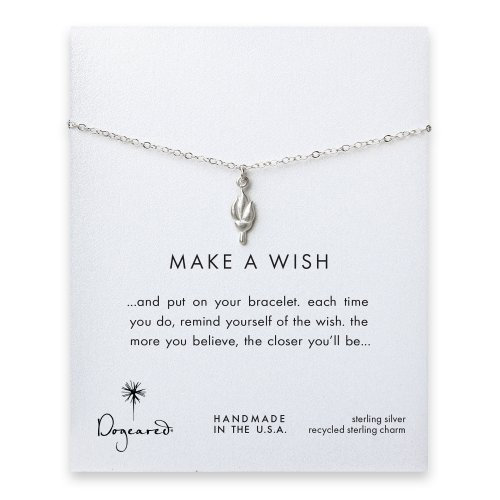 make a wish torch bracelet, sterling silver