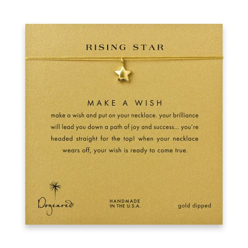 rising star full star necklace on gold, gold dipped