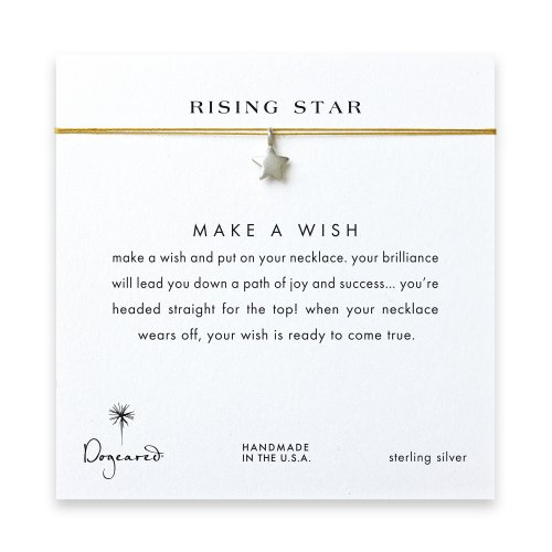 rising star full star necklace on gold, sterling silver
