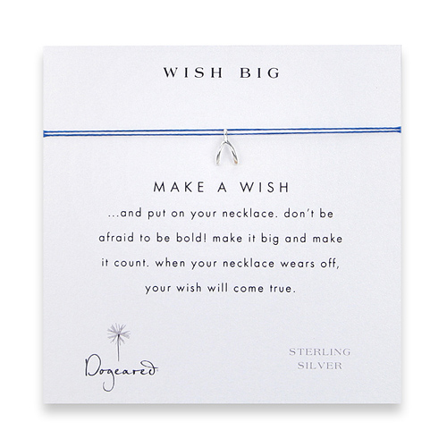 wish big make a wish necklace with sterling silver wishbone on royal