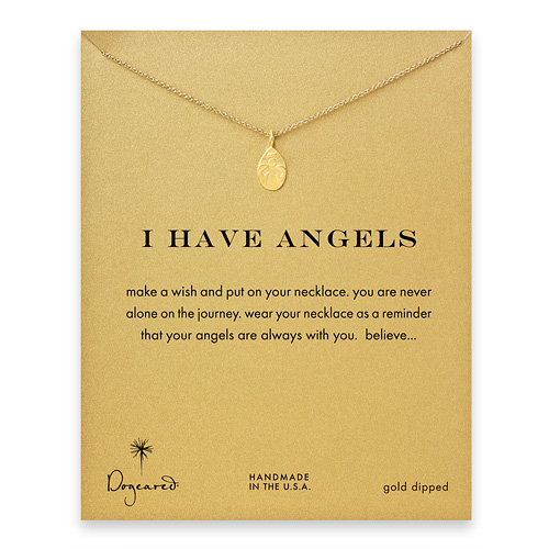 I have angels angel necklace, gold dipped