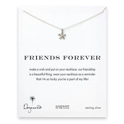 friends forever groovy flower necklace, sterling silver