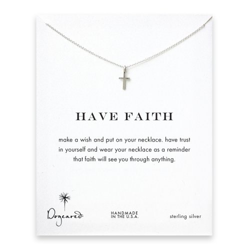 have faith simple cross necklace, sterling silver