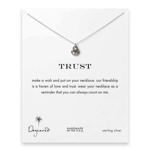 trust lock necklace, sterling silver