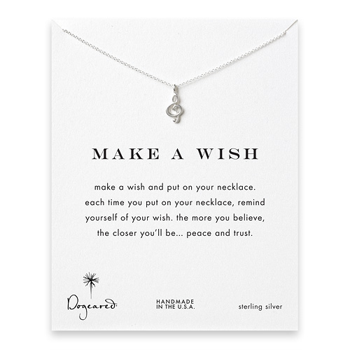 make a wish treble clef sterling silver reminder necklace