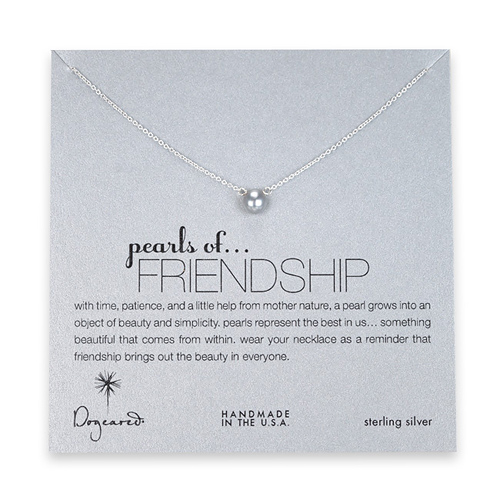 pearl of friendship gray pearl necklace, sterling silver