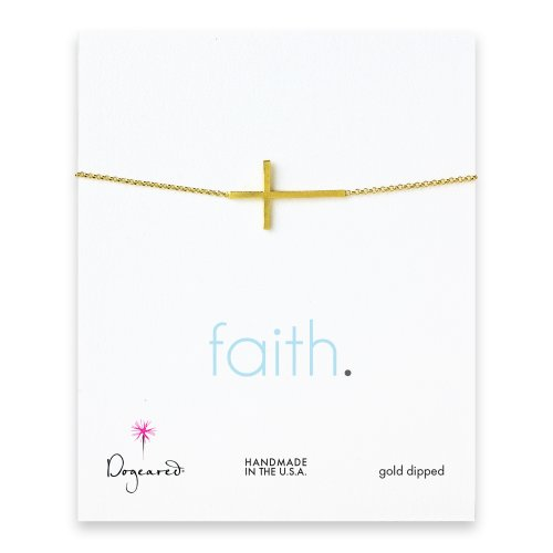 faith large cross bracelet, gold dipped