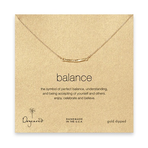 balance bar necklace, gold dipped