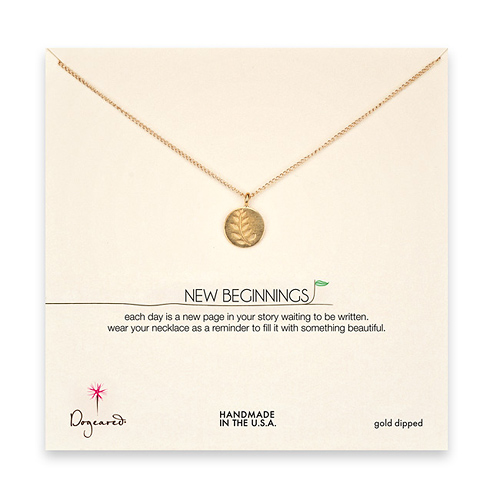 new beginnings wheat gold dipped necklace