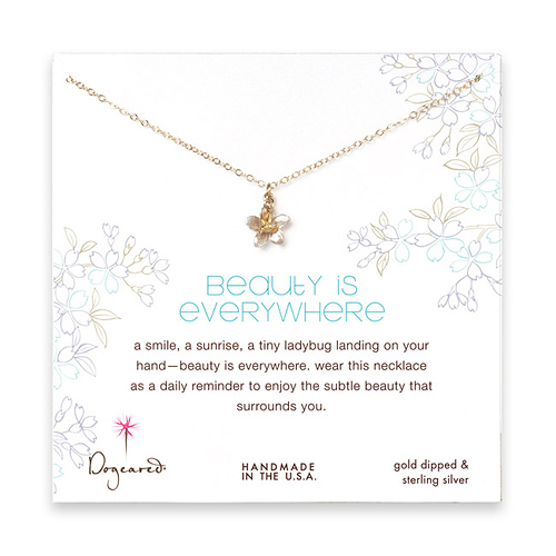 beauty is everywhere gold dipped necklace