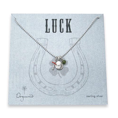 luck word necklace